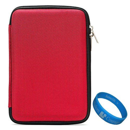 """Red Durable Scratch Resistant Protective Cube Carrying Case for Kobo Touch 6"""" Pearl high contrast E Ink display e-Reader + SumacLife TM Wisdom Courage Wristband by VangoddyTM. $14.99. Safely carry and protect your device with the VG Cube Carrying Case. Its durable semi hard exterior provides your device maximum protection from every day wear and tear. The interior of the case has been lined with soft microfiber padding to cushion and prevent unnecessary bumps, dents, and..."""