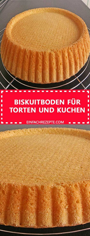 Biskuitboden für Torten und Kuchen