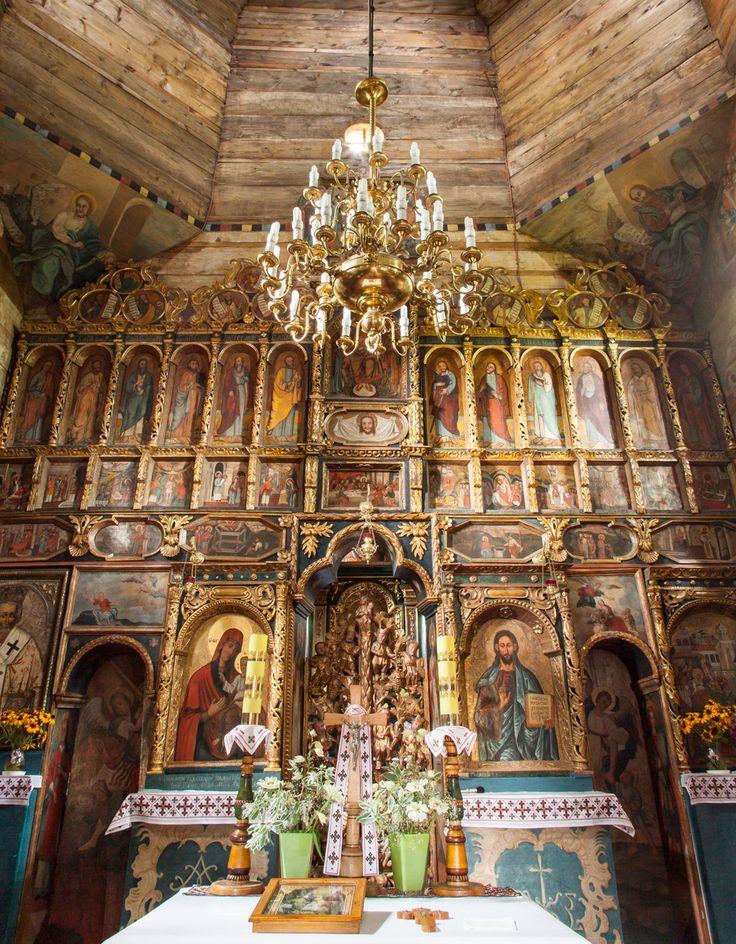 Chotyniec. Drewniana cerkiew greckokatolicka z 1615 roku. / Chotyniec. Wooden Greek Catholic Tserkva from 1615.   Podkarpackie ,Poland