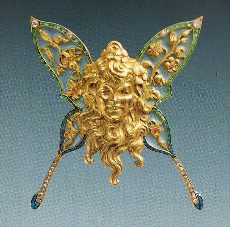 he Jewels of Laliique ed Yvonne Brunhammer1 butterfly woman brooch c. 1895