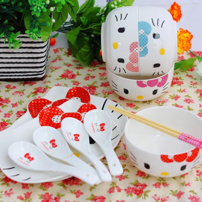 HELLO-KITT tableware for 14 pieces sets