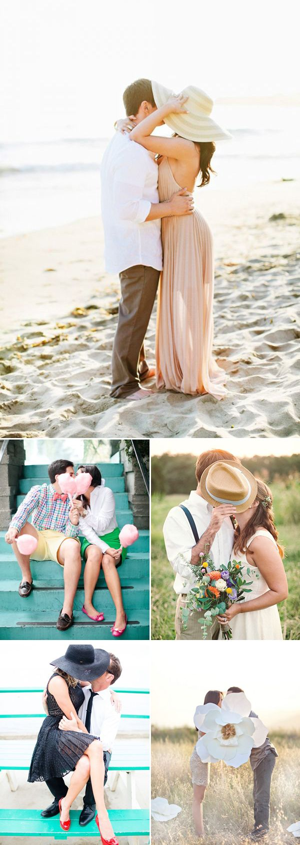 37 Must Try Cute Couple Photo Poses - Hidden Kiss!