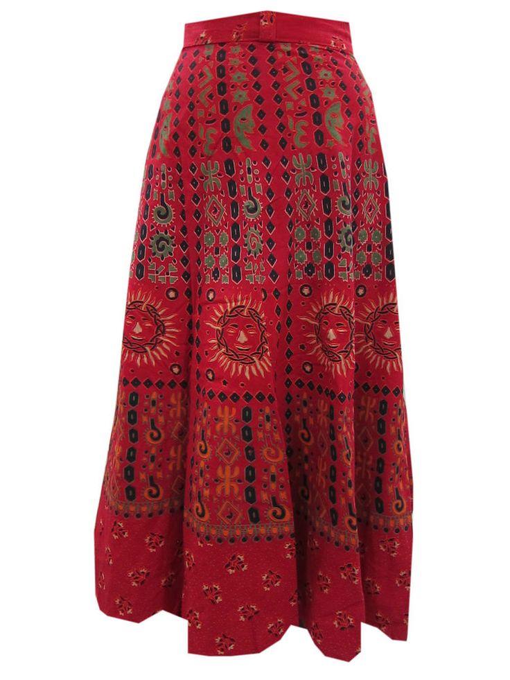 Designer Cotton Wrap Skirt Boho Fashion Everyday Casual Skirt
