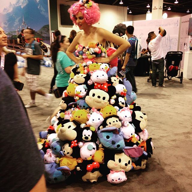 Someone wearing the Disney's Tsum Tsum dress!