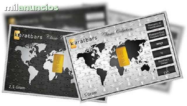 . Karatbars International ofrece la oportunidad de crear tu propio negocio de venta de lingotes de oro puro SIN RIESGOS. No necesitas empleados, ni local, ni canon de publicidad, ni pago de royalties. Baja inversi�n, alta rentabilidad. Inversi�n 7500 euros