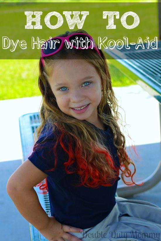 How To Dye Hair with KoolAid mix