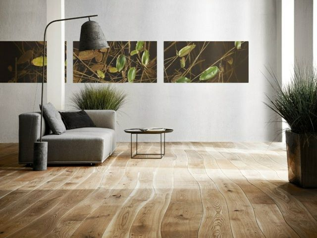 Wohnzimmer Einrichten Ideen Bodenbelag Auswhlen Eichenholz