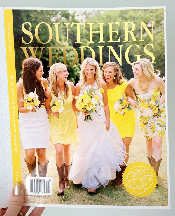 Gold Foil + Yellow, Oh My - Southern weddings magazine v5 cover