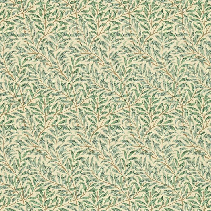The Original Morris & Co - Arts and crafts, fabrics and wallpaper designs by William Morris & Company   Products   British/UK Fabrics and Wallpapers   Willow Bough Minor (DMC1W2101)   Morris Compendium