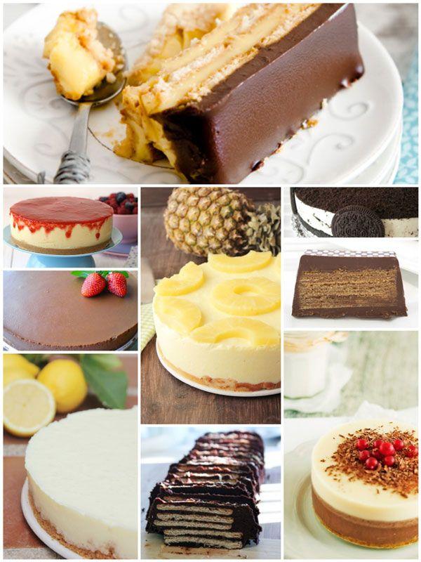 Tartas fáciles sin horno. Nuestra selección de hoy es de 9 recetas de tartas fáciles sin horno que hemos publicado en Pequerecetas. Veréis que estas tartas son muy fáciles de hacer...