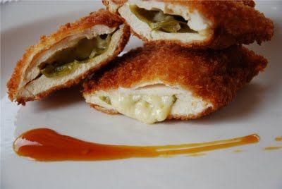 Pollo súper crujiente con guindilla y cheddar