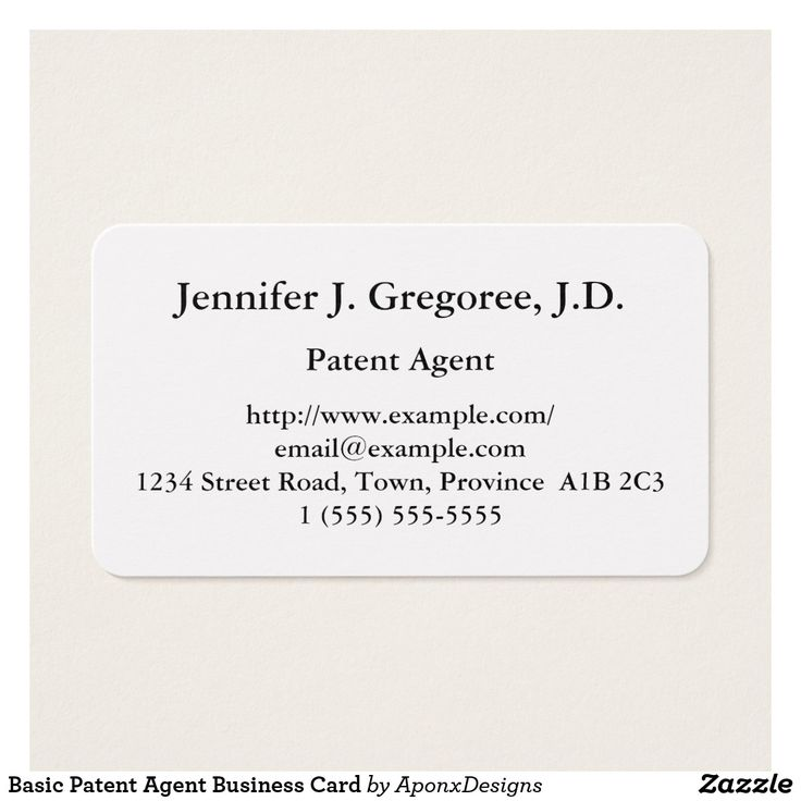 Basic Patent Agent Business Card