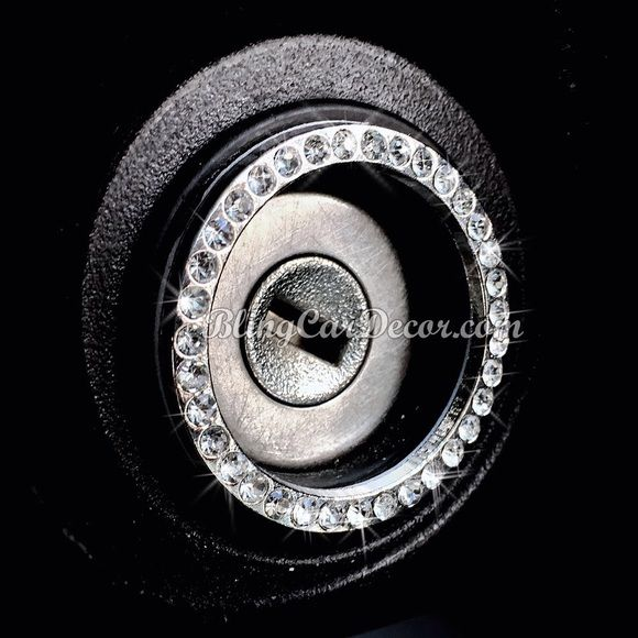 Crystal Bling Ring, Rhinestone Car Sticker Emblem BLING IGNITIONS, KNOBS, BUTTONS & More. Crystal bling car emblems. So Luxurious & Unique, Bling Rings will make your car sparkle with style & bling. FEATURES ONE SIZE FIT ALL IGNITIONSKEY & BUTTON Easy Apply Tape Backing Strong Adhesive- will not fall off Bling other Buttons, Knobs (Measure First) Chrome Metal & Rhinestones Diameter: Outer 1.5 in. Inner 1.25 in. Many Available in COLORS- SILVER, PINK, BLUE Discounts on 2 or more. Contact me…