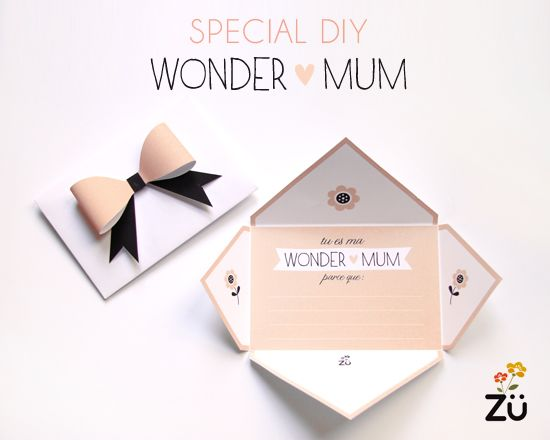 Mother's Day printable card by Zü