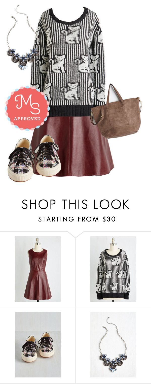 """""""Paws Celebre Sweater"""" by modcloth ❤ liked on Polyvore featuring Hostess, outfit, modcloth and modstylist"""