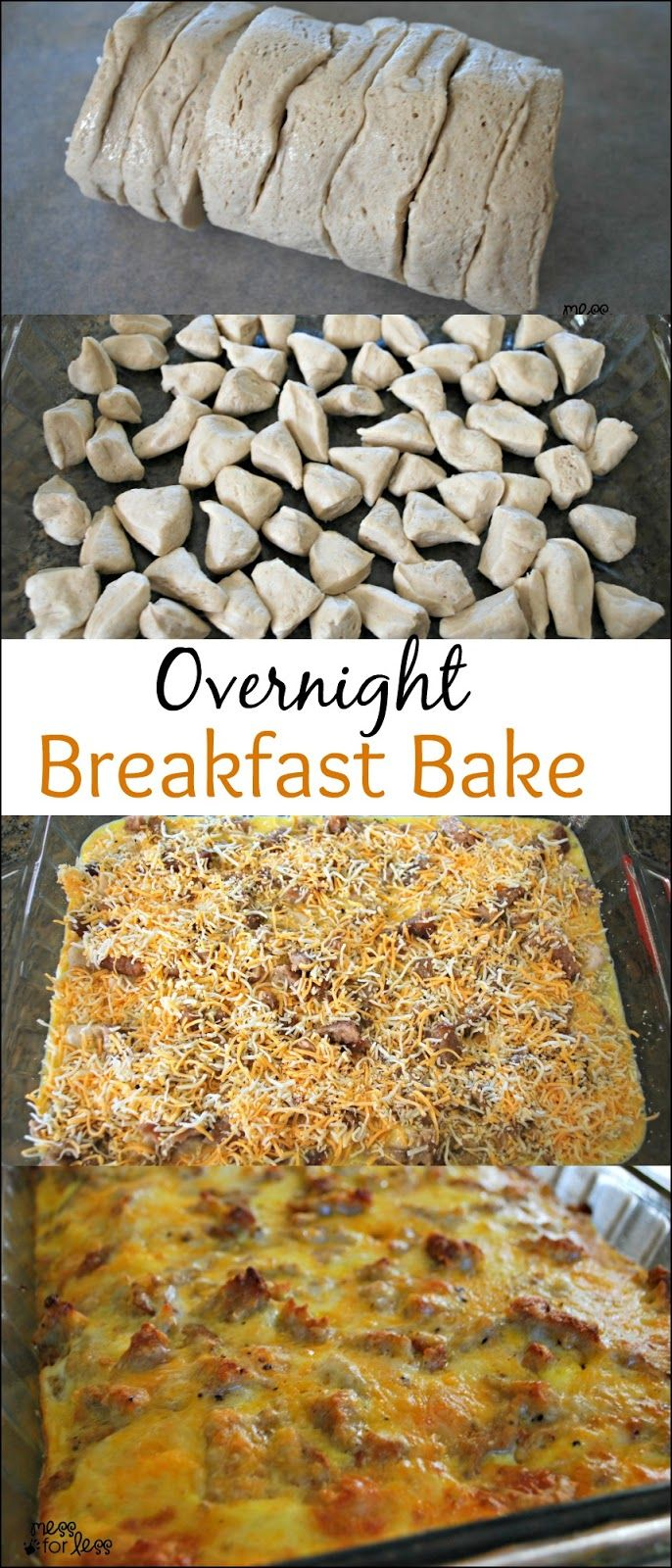 Sausage, Egg and Biscuit Breakfast Casserole - Make this ahead of time and just…