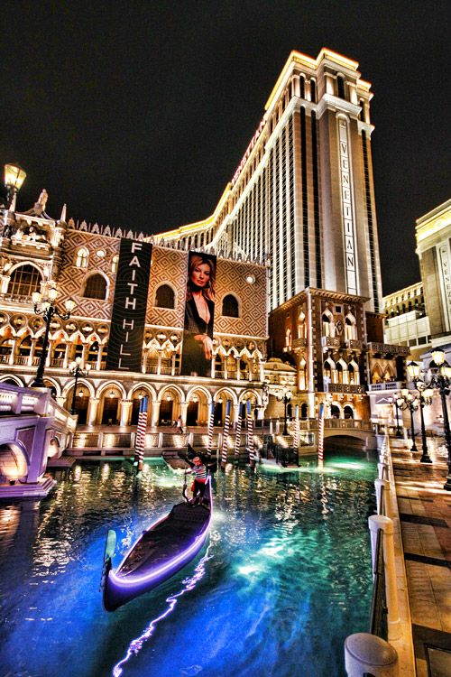 The Venetian's a stunner, complete with gondolas and waterways.