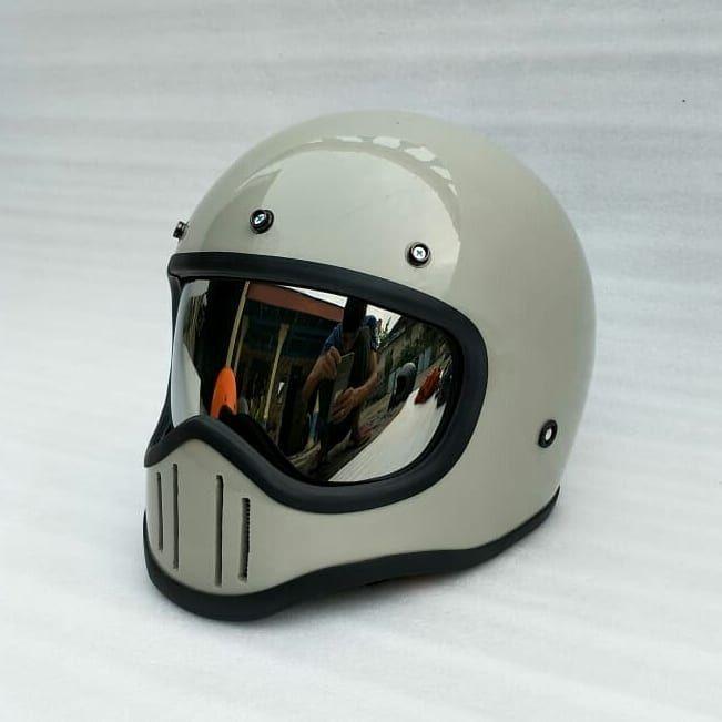 Coffee Racer Arts Custom M50 Vintage Racer Helmet Motorcycle Gear Motorcycle Helmets Vintage Motorcycle Helmets Art Vintage Helmet