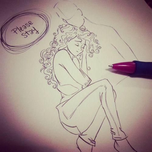 Please stay… #please #stay #pleasestay #love #amore #penna #pen #abbraccio #embrace #staiconme #resta #restaconme #coppia #couple #disegno #drawing #drawings #draw #schizzo #scarabocchio #sketch #girl #ragazza