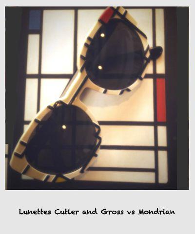 Les lunettes Cutler and Gross: hommage à Mondrian ❘ Lunettes Edition