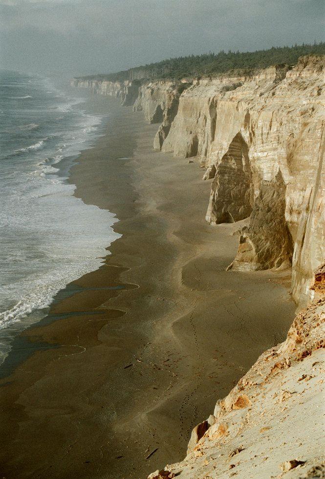 Cliffs north of Blacklock Point, Southern Oregon Coast.