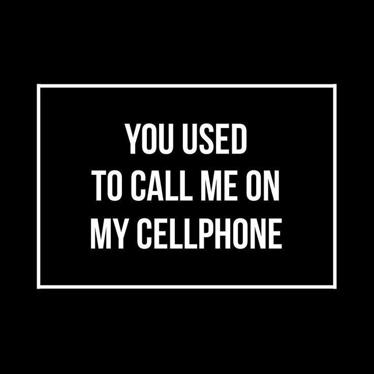 used to call me on my cell phone song