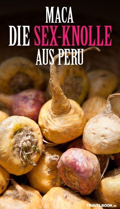 In etwa 4000 Metern Höhe, in den Anden Perus wächst unter der Erde eine Pflanze, die auf Männer und Frauen eine aphrodisierende Wirkung haben soll: die Maca-Pflanze. Wie das Superfood schmeckt, es ruhige Gemüter (im Bett) wieder auf Trab bringt und wie Sie die Lust-Knolle auch auf Ihrem Balkon anpflanzen können, lesen Sie hier.