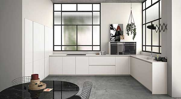 This kitchen layout is often great for bigger families where there is more than one cook in the kitchen at a time. A u-shape allows for counter space and also offers flexibility. On the down-side, a U-shape kitchen may feel closed off from the rest of the house. You should also carefully consider the spaces between the work areas in this kitchen layout.