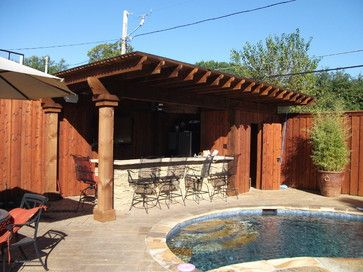 Pool House Cabana Design Pool Renovation With New Hot Tub Fire Pit And Cabana Bar Tropical