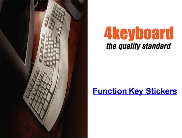 4keyboard provides Function key stickers for computer, Desktop and Mac keyboard which are made of high quality non-transparent (black or white) - matt vinyl, thickness - 80mkn, typographical method. Find great deals on #Function #key #sticker and buy now from 4keyboard.com
