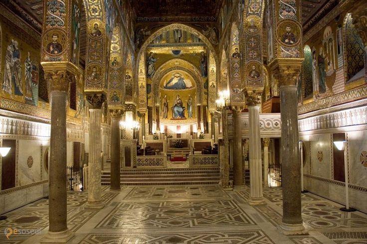 Палатинская капелла – #Италия #Сицилия #Палермо (#IT_82) Личная капелла сицилийских королей и вице-королей. http://ru.esosedi.org/IT/82/1000236845/palatinskaya_kapella/