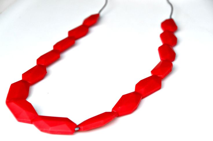 Silicone Teething Necklace Statement by IndiAndFrey on Etsy