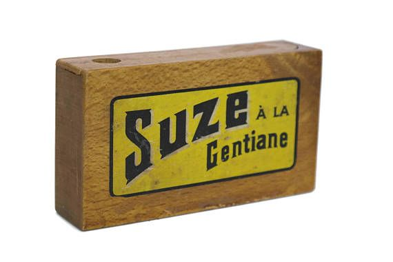 Vintage Suze Advertising Card Box. French Bistro Decor.