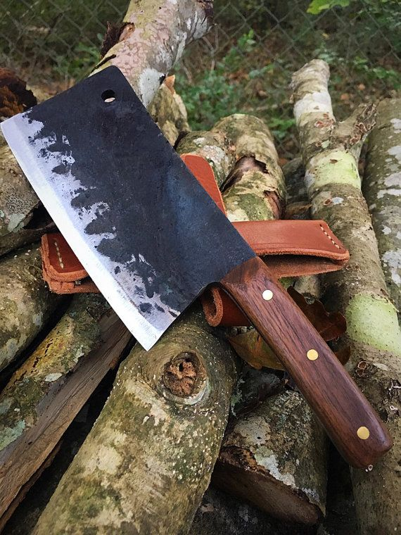 Butcher knife  meat cleaver  chef knife hand by CarterandSonForge