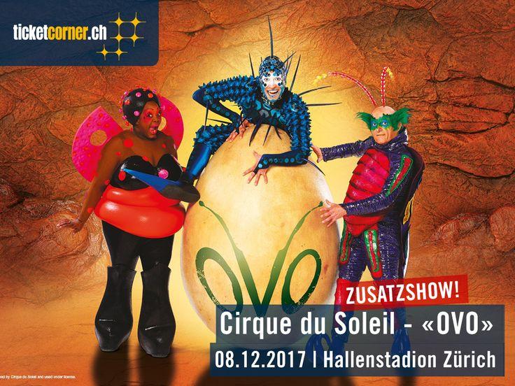 Gute Neuigkeiten für alle Cirque-du-Soleil-Fans: Aufgrund der hohen Nachfrage gibt es eine Zusatzshow von «OVO»! Diese findet am Sonntag, 8. Oktober 2017, um 12 Uhr im Hallenstadion Zürich statt. Familien profitieren bei dieser Show von einem speziellen 20% Rabatt auf den aktuellen Ticketpreis (ab 2 Erwachsenen mit einem Kind). Tickets sind ab sofort erhältlich: http://www.ticketcorner.ch/cirque-du-soleil-ovo