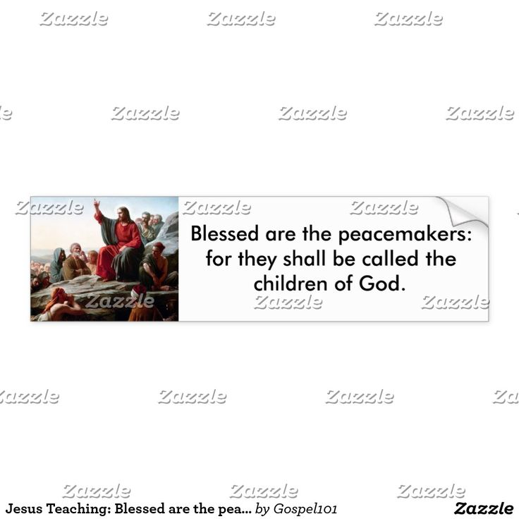 Jesus Teaching: Blessed are the peacemakers Bumper Sticker