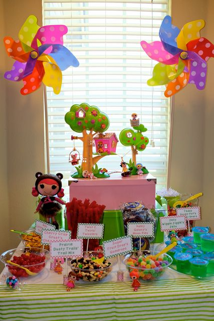 LalaLoopsy Birthday Party Ideas!  See more party ideas at CatchMyParty.com!