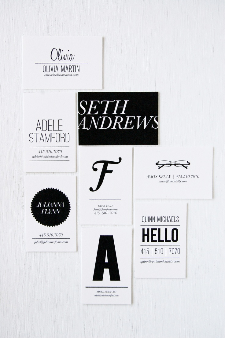 Black and white theme cards