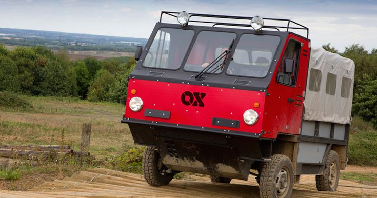 The OX consists of 60 lightweight pieces and can be built in half a day to help developing world with tasks such as transporting grain and drinking water