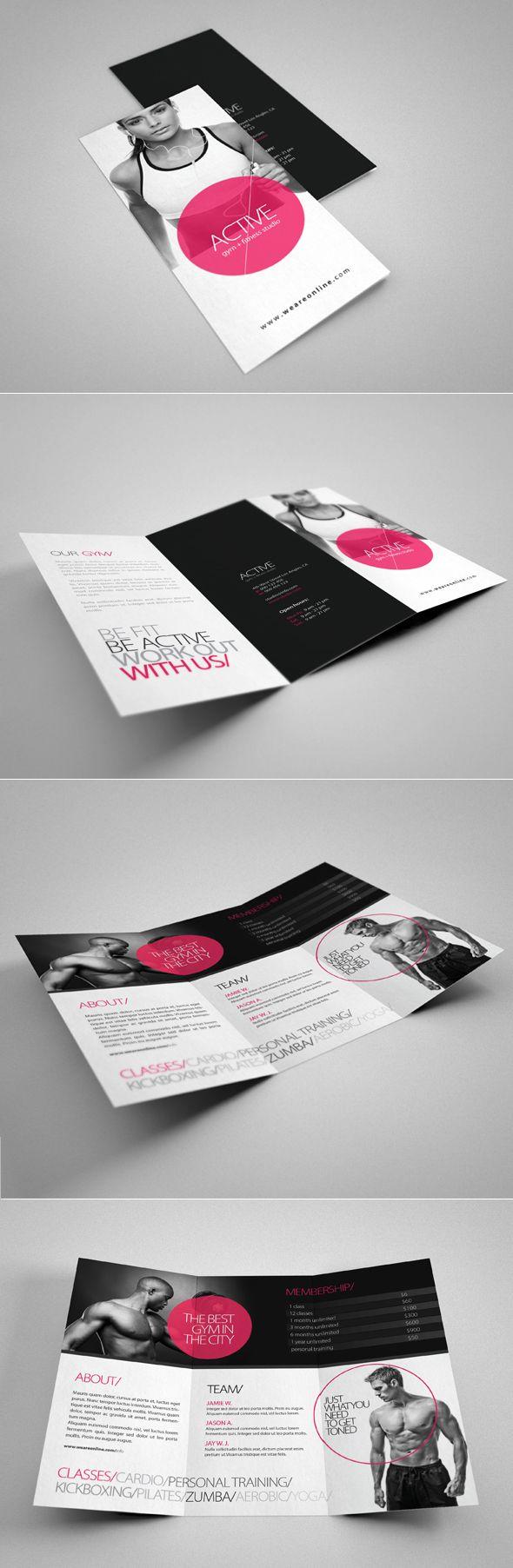 Fitness Tri Fold Brochure by 24beyond.deviantart.com on @deviantART