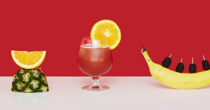 Rum Runner - pineapple and orange juice, blackberry and banana liqueurs, rum