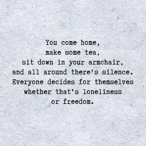 Loneliness or solitude