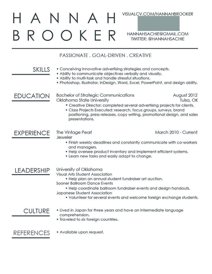 Cool Resumes: Simple, But Unique Design.