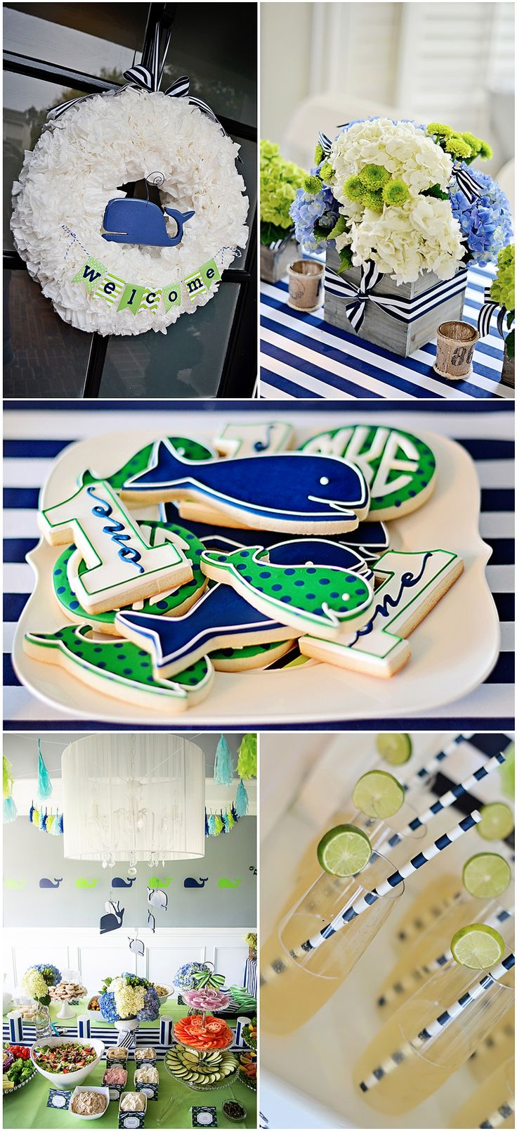 Do you have a one-year-old who is always ready to have a whale of a good time? Then have we got the first-birthday party inspiration for you! Plan one heckuva preppy and nautical first-birthday party with this simple (yet awesome) inspiration. Deck the birthday boy or girl out in some sailor stripes or country-club-esque attire to complete the look.