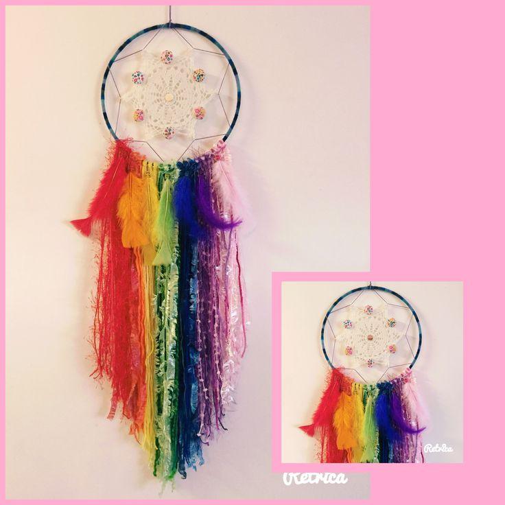 Web of Dreams catcher made by me ❤️ rainbow delight 😍 #dreamcatcher #boho #rainbow