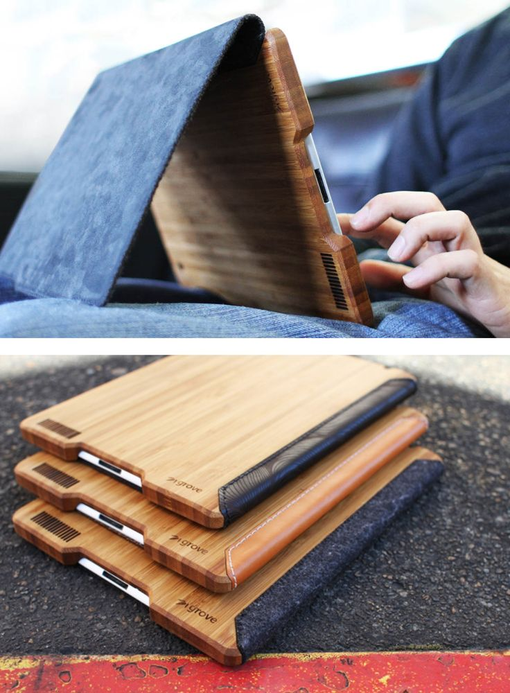 Bamboo iPad Case. Wood makes everything look better.