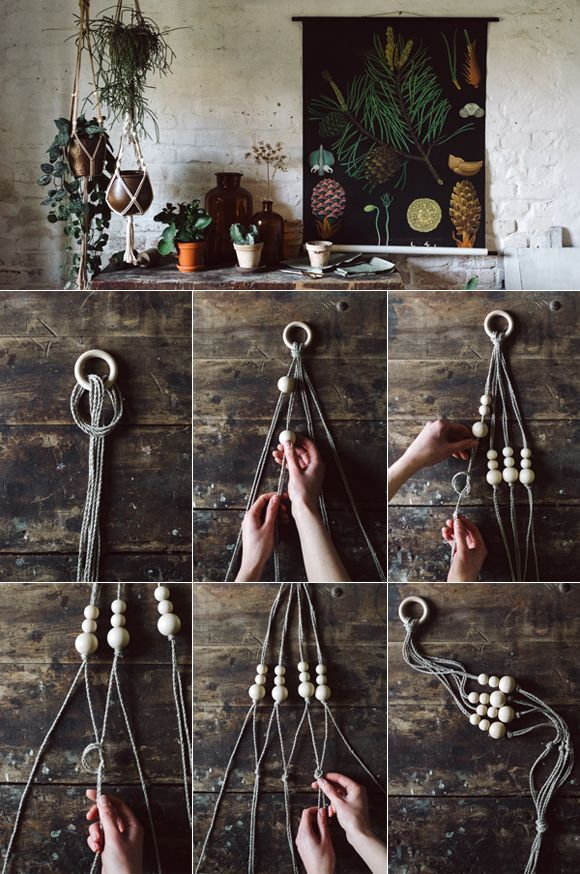 Macrame Directions: Merely make the flower basket your self!