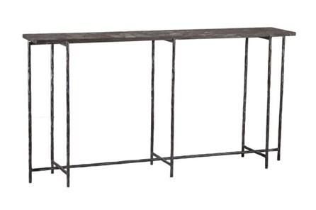 Cast Iron 60 Inch Console Table W/ Stone   Tahoe - Living ...