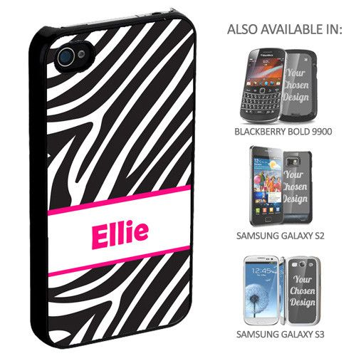 Zebra Print Personalised Phone Cover - yourgifthouse