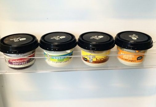 it's like this shelf was made for our li'l pots #gourmetyoghurt #withspoon